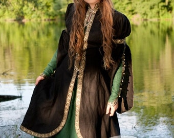 "20% DISCOUNT! Medieval Fantasy Dress and Overcoat Set ""Forest Princess"""