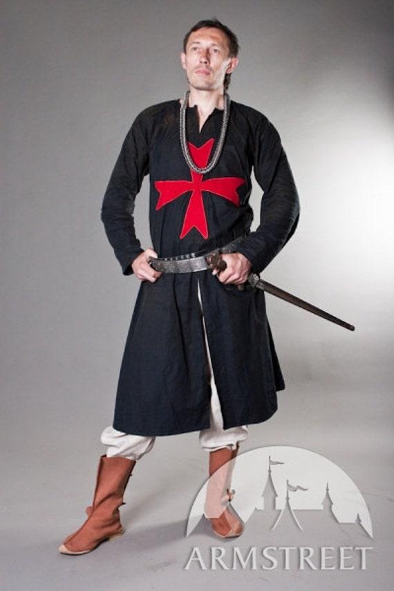 Knight Crusader Templar Medieval Tunic with Cross