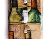 Wine Bottle Single Toggle Switch Plate, wall decor
