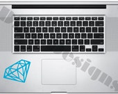 "2.6"" x 3.75"" Diamond vinyl decal for Macbook / Laptop / Notebook / Computer Trackpad"