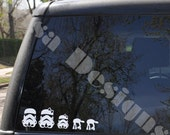 Your choice of 4 Star Wars Stormtrooper inspired Family vinyl decals / Please READ description for ordering instructions - Car decal