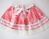 SALE 10%-Girl Twirl Skirt,Toddler Summer Skirt,Red Skirts,Girls Skirts-Ready To Ship