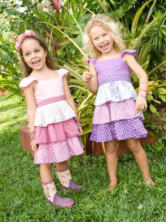SALE 30% ,Girls Dresses, Purple Dress,Ruffle Dress,Toddler Dress,Birthday Dress,Spring Dress,Ready To Ship
