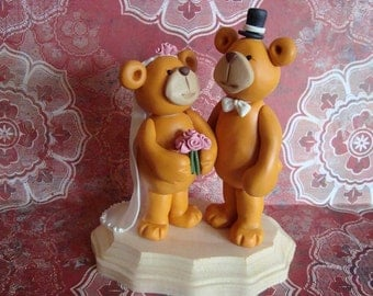 Custom Bears Wedding Cake Topper