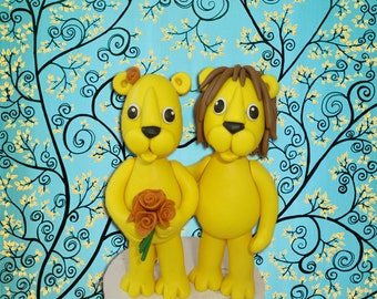 Custom Lion Wedding Cake Topper