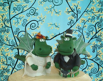 Customized Hippo Wedding Cake Topper