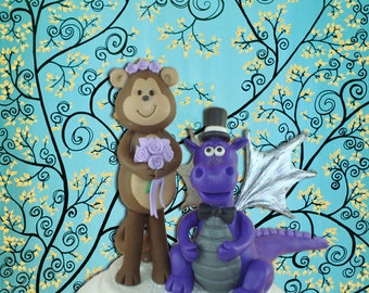 Customized Monkey and Dragon Cake Topper
