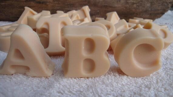 Back to School, ABC's Organic Milk Soap, Kids Party Favor, Alphabet Soap 26