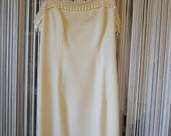 Glamorous Vintage 80's/90's Pearl lined Carmen Marc Valvo Dress