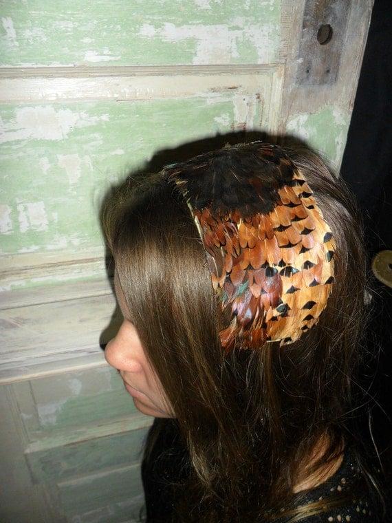 Vintage Feather Headband/Headpiece
