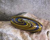 Skinny Handblown Glass Spiral Reversal Bead