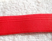 9 yards  1 inch Red Elastic for sewing, crafts, Valentine crafts, and stretch