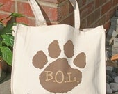 Large canvas bag for beach, shopping, work... or just for carrying your pooch's stuff in
