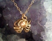Copper and Bronze with Pearl Necklace