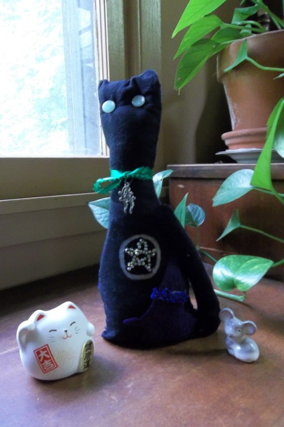 RESERVED for Jenny K. (DarkBeautyBoutique) Sale Witch's Familiar Cat Doll