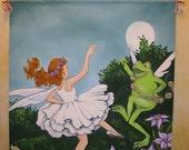 """Large Banner Children's Room Art """"Moonlight Dance"""""""