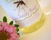 Natural Insect Repellent: Go Away Bugs -  Effective - NO Deet - Organic / Non-GMO   2 oz
