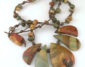 Hand-knotted Red Creek Jasper Necklace