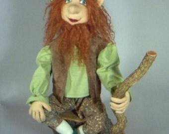 "Cloth Doll Pattern ""O'Rooney, the Leprechaun"""