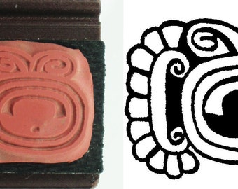 Mayan Hieroglyphic Design Stamp for Polymer Clay, PMC, Ceramic Clay, Scrapbooking - Mayan Symbolic Hieroglyphic Design Stamp for PMC Clay