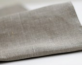 Natural linen tablecloth - gray - table runner-  57x80