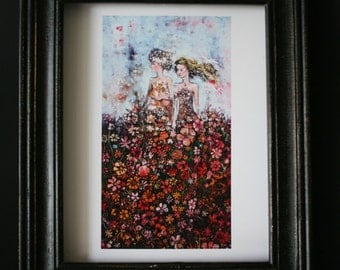 Flower Power  - archival print of original painting, great wall art, limited edition of 100