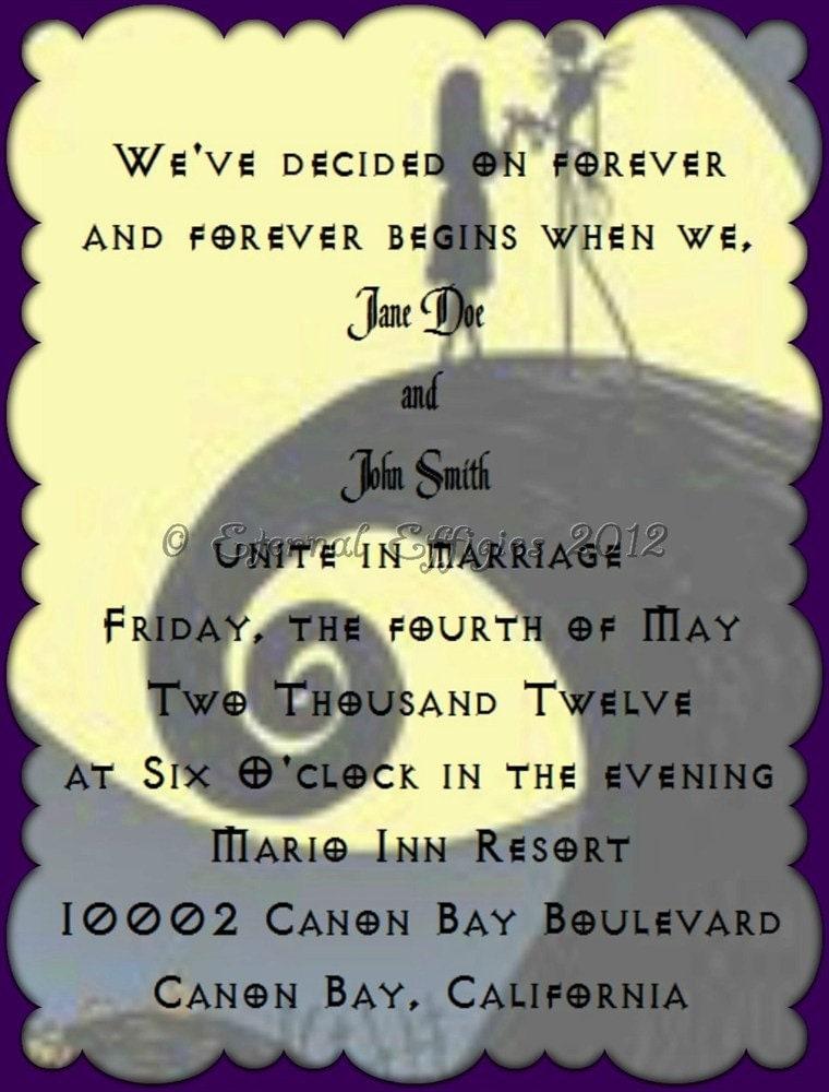 The Nightmare Before Christmas Wedding Invitations as amazing invitations ideas