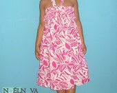 Pink Printed Infinity Dress