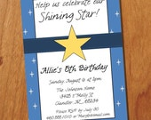 Shining Star 4x6 Custom Printable Invitation, Digital Invitation