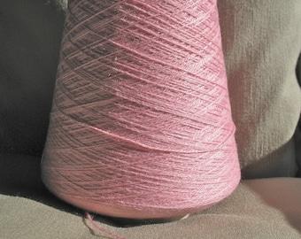 SALE Jaggerspun Wool Silk 2/18 thread yarn 1 lb. cone in Lady Slipper Pink