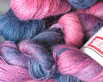 Suri Alpaca laceweight yarn by Cherry Tree Hill in Winterberry Colorway 50g