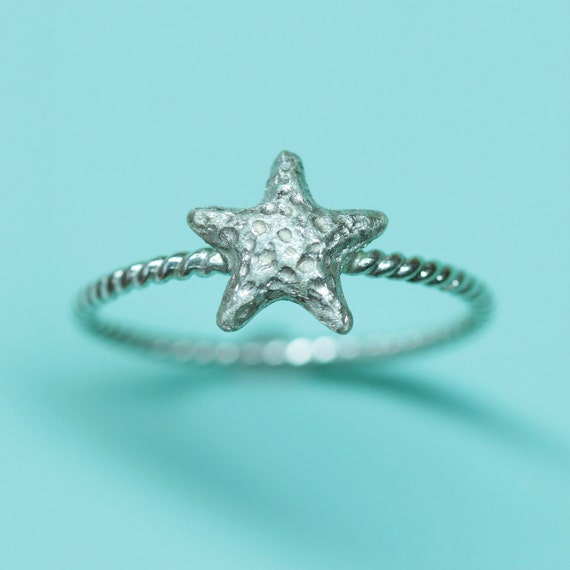 Starfish Ring in Sterling Silver