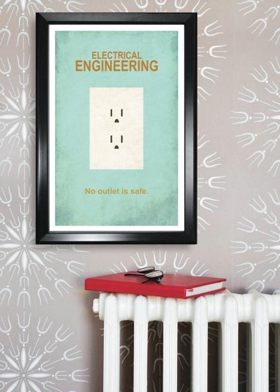 Electrical Engineering Minimalism 11x17 Poster Print