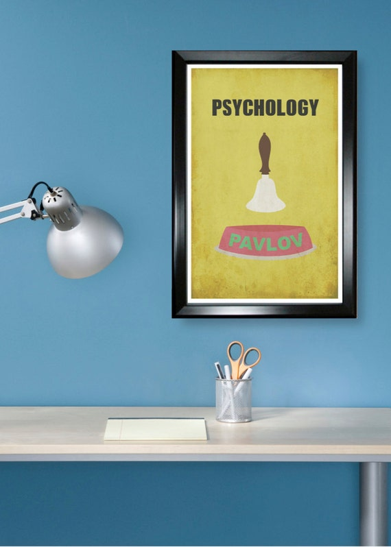 Psychology 11x17 minimalism poster print - Graduation, Teacher Gifts - Home & Dorm Decor