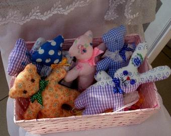 Lovely teddy bear or hare calico.