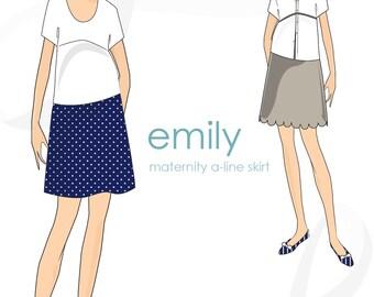 Maternity pattern: Emily maternity A-Line skirt pattern, PDF