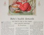 Vintage Ad Advertising / Frigidaire Refrigerator Ad / 1920's Good Housekeeping Magazine Advertisement / Kitchen Ad / Illustration