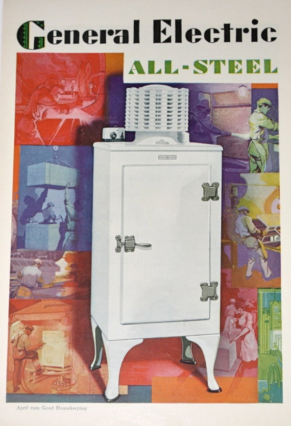 Vintage Ad Advertising Refrigerator Ad 1920 S By