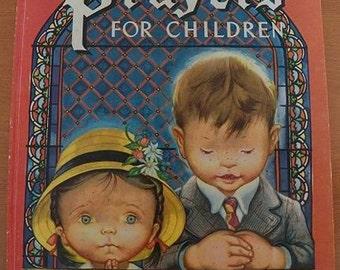 1976 Vintage..PRAYERS For Children..a Large Golden Book..ELOISE WILKIN Illustrated