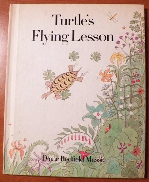 1973 Turtle's Flying Lesson..by Diane Redfield Massie..Hardback book Weekly Reader..