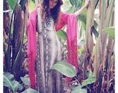 Vintage 1970's Snakeskin Print Boho Maxi Dress - Gypsy Maxi Dress