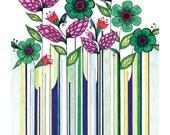 Springtime - Flower Design Postcard