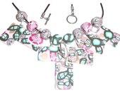 Necklace jewelry - polymer clay