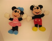 Vintage Playskool Brand Set of  Mickey and Minnie Mouse