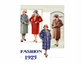 1340# Fashion journal 1925 - Doll house miniature in scale 1/12