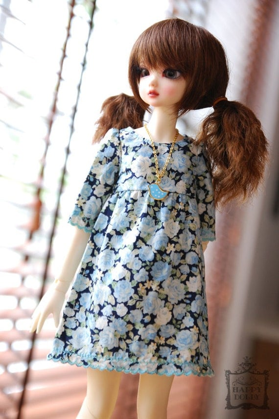 Reserved for (Cutie Land) only - Blue Rose Dress for MSD