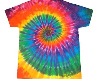 Classic Rainbow Spiral Tie Dye Shirt