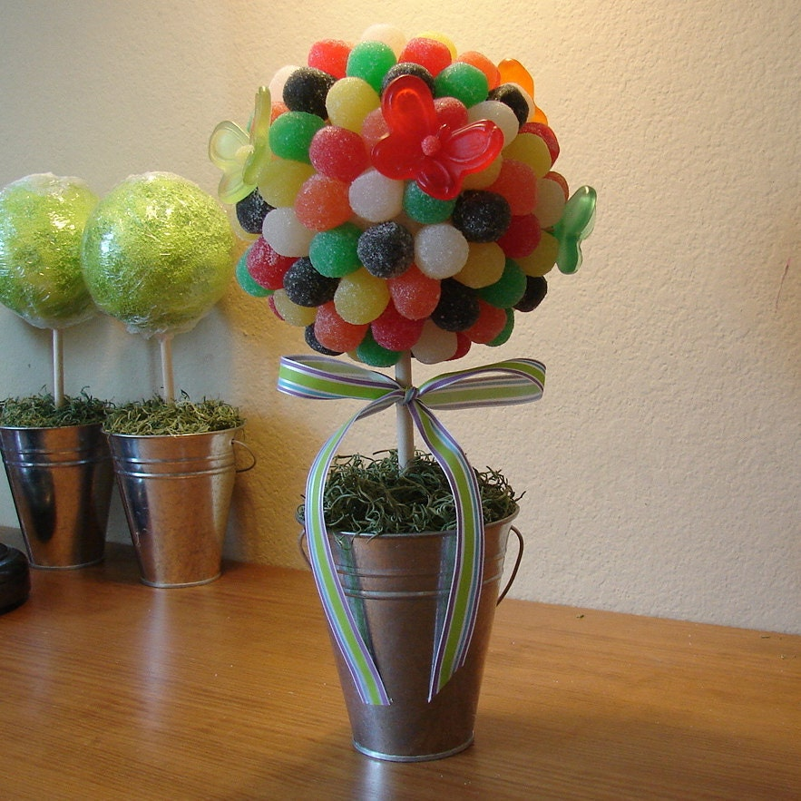 Edible GUM DROP Candy Bouquet Gumdrop Topiary Birthday