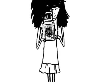 Twin lens girl
