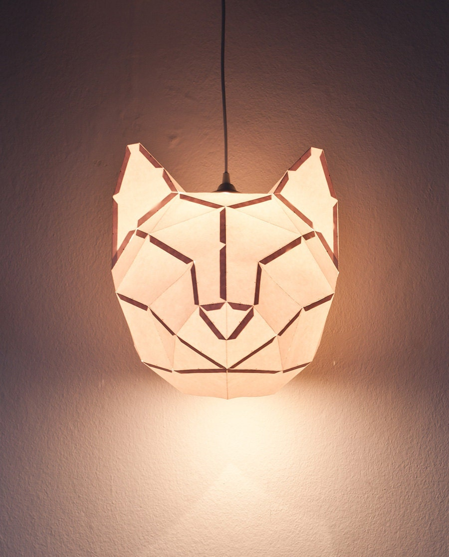 Lamp Of Paper: CAT LARGE / Do It Yourself Paper Lamp Shade